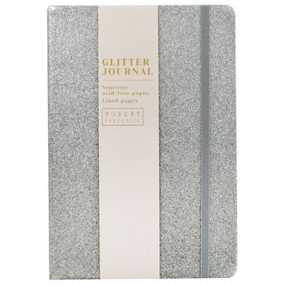 A5 Silver Glitter Cased Lined Journal image number 1