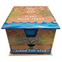 Help the Bees, Plant More Trees Memo Cube
