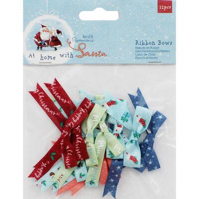 At Home with Santa Ribbon Bows - 12 Pack image number 1