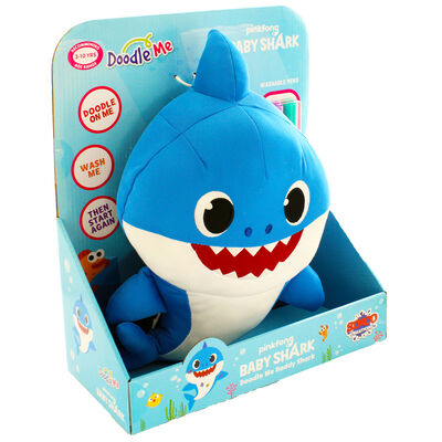Doodle Me Blue Daddy Shark Plush image number 1