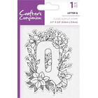 Crafters Companion Clear Acrylic Stamp - Floral Letter Q image number 1