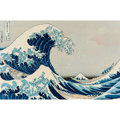 Hokusai Wave 1000 Piece Jigsaw Puzzle image number 2