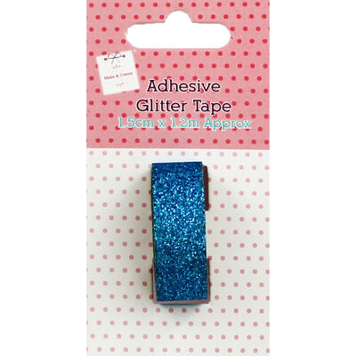Adhesive Glitter Tape Blue image number 1
