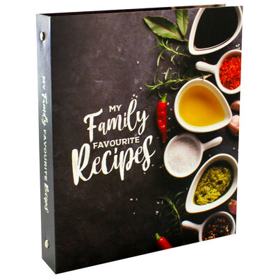 My Family Favourite Recipes Ring Binder Recipe Journal image number 1