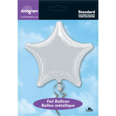 18 Inch Silver Star Helium Balloon image number 2