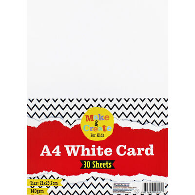 A4 White Card - 30 Sheets image number 1