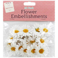 Daisy Flower Head Embellishments - 20 Pack
