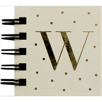 Personalised Letter W Sticky Notes Book