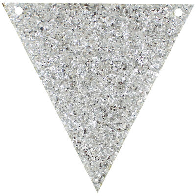 Make Your Own Silver Glitter Bunting image number 2