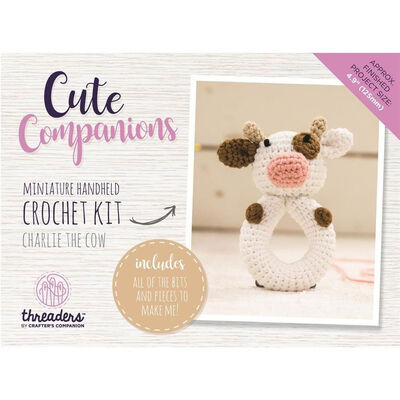 Cute Companions Miniature Handheld Crochet Kit - Charlie the Cow image number 4