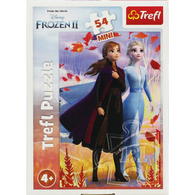Disney Frozen 2 Anna and Elsa Mini 54 Piece Jigsaw Puzzle image number 1