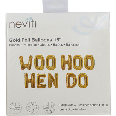 Gold Hen Do Foil 16 Inch Balloon image number 1