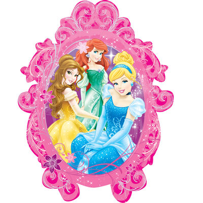 31 Inch Disney Princess Frame Super Shape Helium Balloon image number 1