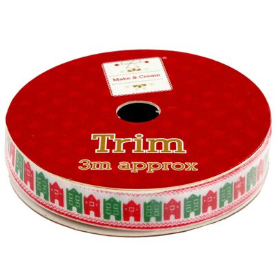 Christmas Ribbon Trim: Assorted 3m image number 1