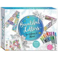 Beautiful Letters Colouring Set