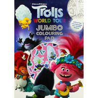 Trolls Jumbo Colouring Pad