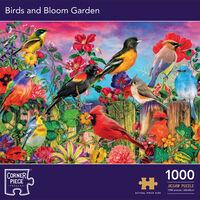 Birds and Bloom in Garden 1000 Piece Jigsaw Puzzle