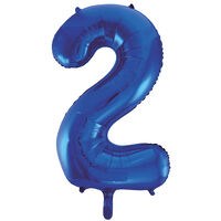 34 Inch Blue Number 2 Helium Balloon