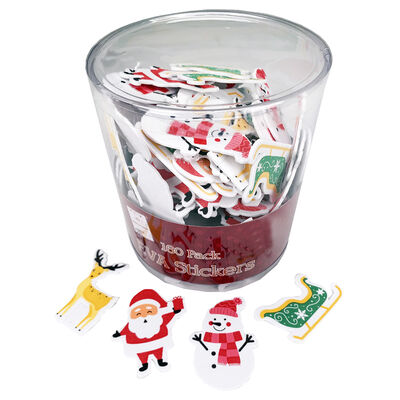 Christmas Foam Stickers: Pack of 160 image number 1
