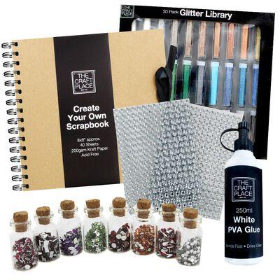 Create Your Own Kraft Scrapbook Bundle image number 1