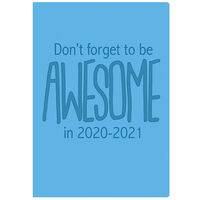 A5 Blue Week to View 2020-21 Academic Diary