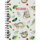 A5 Wiro Sloth Design Lined Notebook image number 1