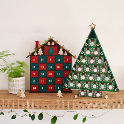 Wooden Christmas Tree Advent Calendar image number 5