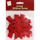 Red Ribbon Bows - Pack Of 15 image number 1