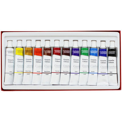 Gouache Colours - Set Of 12 image number 2