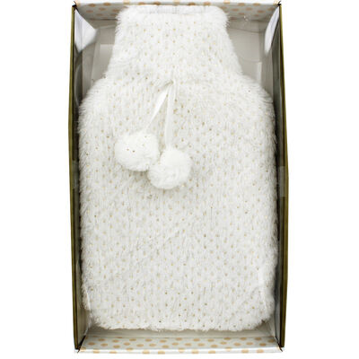 Cream Metallic Spot Super Soft Hot Water Bottle image number 1