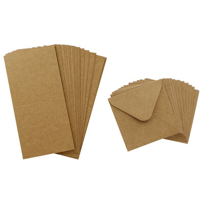 20 Small Kraft Cards and Envelopes - 9cm image number 2