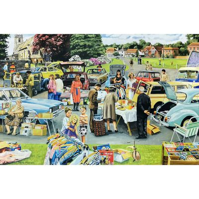 Car Boot Sale 1000 Piece Jigsaw Puzzle image number 2
