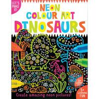 Neon Colour Art: Dinosaurs