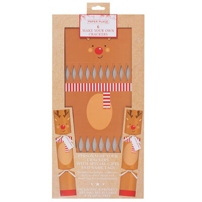 Make Your Own Christmas Reindeer Crackers: 6 Pack image number 1