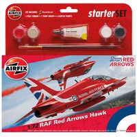 Airfix RAF Red Arrows Hawk 1:72 Scale Model Starter Set