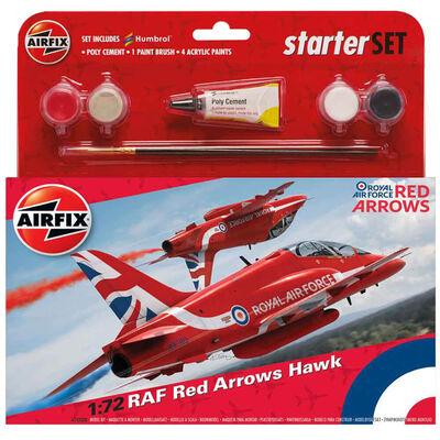 Airfix RAF Red Arrows Hawk 1:72 Scale Model Starter Set image number 1