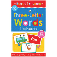 Ready Set Learn: Three Letter Words Flashcards