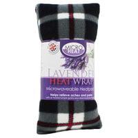 Black with Red Tartan Lavender Microwaveable Heat Wrap