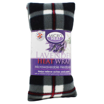 Black with Red Tartan Lavender Microwaveable Heat Wrap image number 1