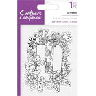 Crafters Companion Clear Acrylic Stamp - Floral Letter U image number 1