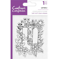 Crafters Companion Clear Acrylic Stamp - Floral Letter U