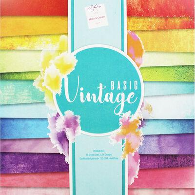 Basic Vintage Design Pad - 12x12 Inches image number 1