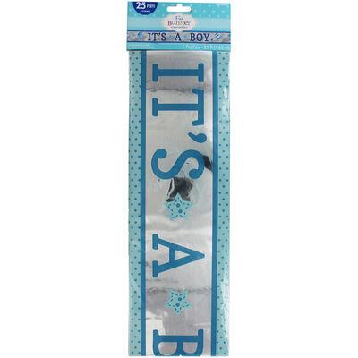 Its a Boy Baby Shower Foil Banner image number 1