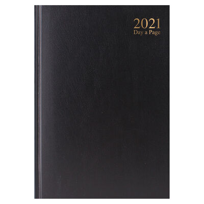 A5 Black 2021 Day a Page Diary image number 1