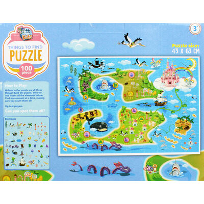 Things to Find Fairytale 100 Piece Jigsaw Puzzle image number 3