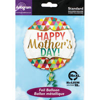 17 Inch Happy Mothers Day Foil Helium Balloon