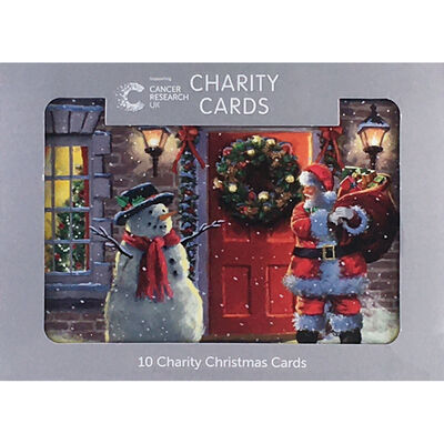 Cancer Research UK Charity Santa Christmas Cards: Pack of 10 image number 1