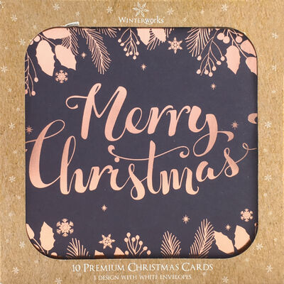 Merry Christmas Cards: Pack Of 10 image number 1