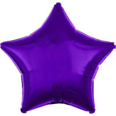 18 Inch Purple Star Helium Balloon image number 1