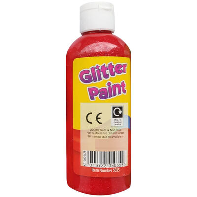 Glitter Paint 200ml: Assorted image number 1